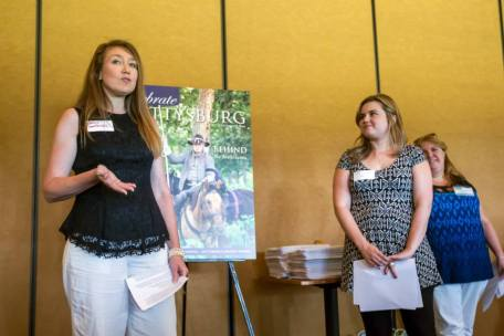 Speaking at Celebrate Gettysburg magazine's Behind the Cover event
