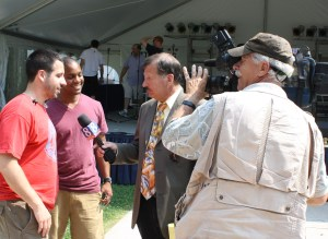 Coordinating media coverage for Gettysburg Festival: Television interviews with Straight No Chaser