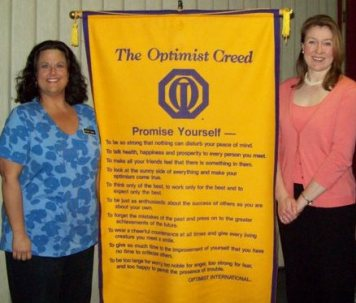 Public speaking engagement with Stacey Green of the Gettysburg Optimist Club