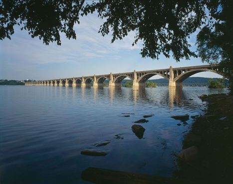 The Columbia-Wrightsville Bridge today, linking York and Lancaster Counties