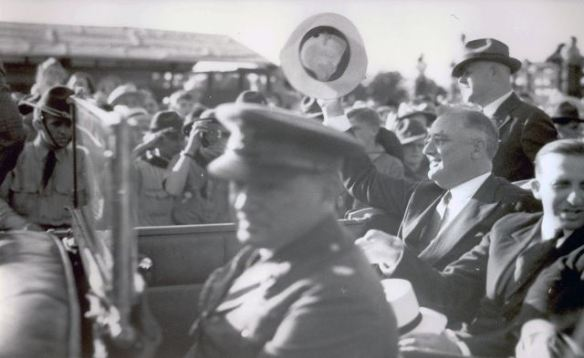 President Franklin D. Roosevelt arrives in Gettysburg to dedicate the Eternal Peace Light Memorial in 1938. Photo Courtesy: Adams County Historical Society.