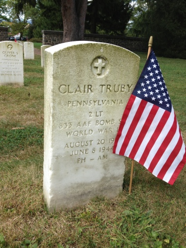 Clair Truby's resting place, Soldier's National Cemetery, Gettysburg