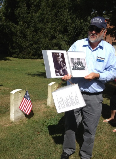 Ralph Siegel, leading a tour at Soldier's National Cemetery, Gettysburg