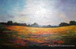"""A Yellow Field"" by Marti Yeager"