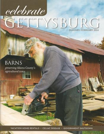 Celebrate Gettysburg mag cover Jan-Feb 2014
