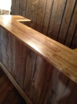 Beautiful salvaged wood, atop a bar built into the barn by William M. Jacobs Remodeling & Restoration, Gettysburg