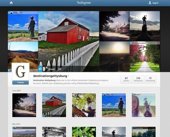 Destination Gettysburg's Instagram Profile