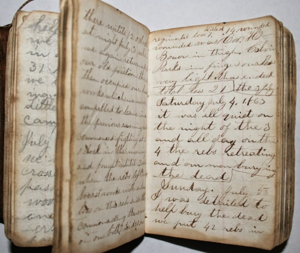 SchroyerDiary inside July 1863