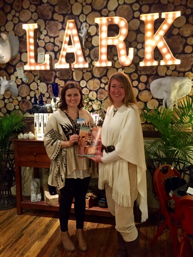 "Celebrate Gettysburg editor Krista Scarlett and I enjoy debuting the Nov/Dec 2015 issue at ""Behind the Cover,"" held at Lark, Gettysburg"
