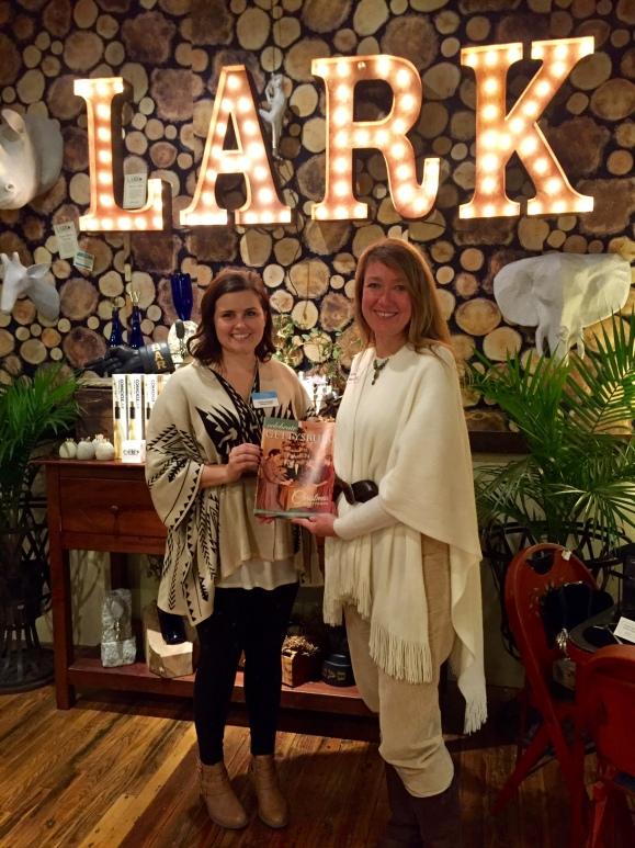 "Celebrate Gettysburg editor Krista Scarlett & I enjoy debuting the Nov/Dec issue at ""Behind the Cover,"" held at Lark"