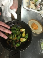 Beautifully carmelized brussel sprouts