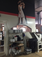 Fun Fact: Dirty Dancing is the staff's favorite movie, so Jennifer Grey & Patrick Swayze are immortalized in the kitchen!