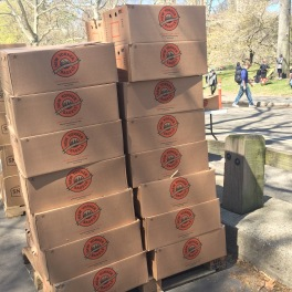 NY Bagels at the finish line!