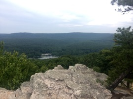Pole Steeple Overlook with Laurel Lake below