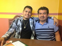Father and son, David and Marcelino Angeles