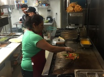 Maria Angeles takes charge of the kitchen