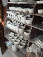 Pottery is curing...