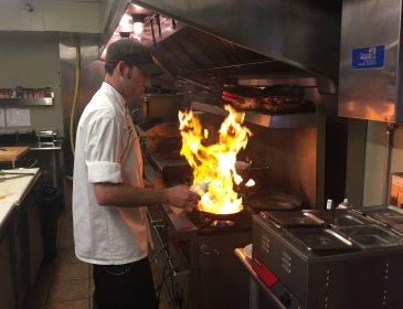 Chef Keith Lowman fires up the kitchen