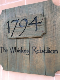 A rustic eatery, 1794 The Whiskey Rebellion: