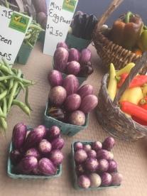 Gorgeous mini-eggplants!