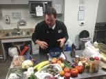 Chef Jeremy assembles ingredients