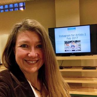 Instagram for Artists: Sharing social media strategy and tips for artists, via workshops held at the Adams County Arts Council, Gettysburg PA.