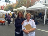 A friendship forged on festivals: Years ago, when I organized downtown festivals for Main Street Gettysburg, which morphed into The Gettysburg Festival, I met Mary Beth--one of our most dedicated volunteers. In Sept of 2016, I had the pleasure of volunteering for Carlisle's Harvest of the Arts organized by Mary Beth, via Carlisle's Main Street organization. Isn't life funny?!