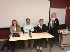 Back to School: Speaking on a PR panel for students at Harrisburg Area Community College.