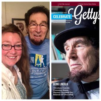 It was an honor to meet and interview James Hayney, Abraham Lincoln presenter. The cover story appeared in the July/Aug 2018 issue of Celebrate Gettysburg magazine.