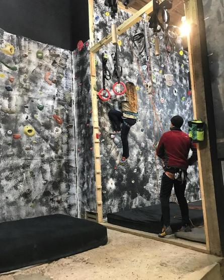 Learning the ropes at Susquehannock Climbing & Fitness Center for a freelance writing assignment for TheBurg, Harrisburg.