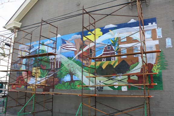 Mural by Color Carlisle, published in Susquehanna Style magazine with accompanying feature article