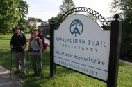 Appalachian Trail Hikers Kim and Dan Shaffer, published with accompanying news feature, the Gettysburg Times