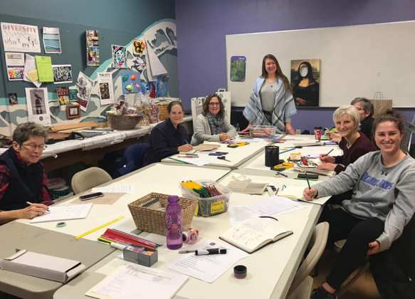 New Year, New Organizational Habits: Leading a Bullet Journaling workshop at the Adams County Arts Council, Gettysburg