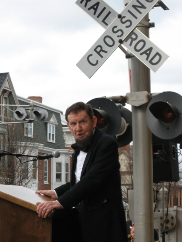 Captured this image of beloved Abraham Lincoln presenter Jim Getty while serving on the Historic Gettysburg Railroad Station's Rededication Committee, Nov. 2006