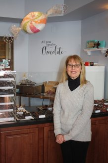 Diane Krulac, owner, Cocoa Creek Chocolates / Brittle Bark, Mechanicsburg PA - shot for Susquehanna Style magazine