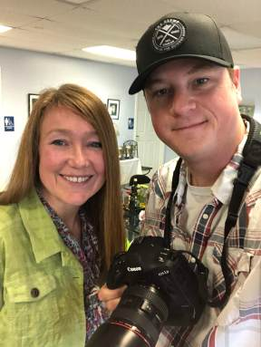 Karen Hendricks and Casey Martin on assignment