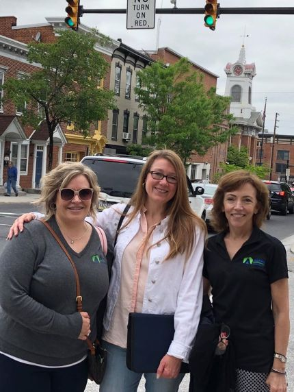 Downtown Gettysburg small business visits with client Adams Economic Alliance